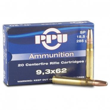 PPU 9.3X62 180Gr Soft Point
